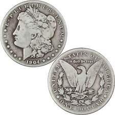 1904 S Morgan Dollar VG Very Good 90% Silver $1 US Coin Collectible