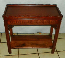 Mahogany Carved End Table / Side Table  (T542)