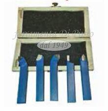 Set 5 outils pour fabrication métal mm 12X12 pour tour à métaux