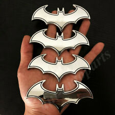 4pcs Big 3d Metal Chrome Batman Dark Knight Mask Car Emblem Badge Decal Sticker