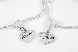 Big sister and Little sister bracelet set (2) Big sis little sis Best sisters gi