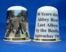 Birchcroft China Thimble - Beatles Abbey Road 50th Anniversary - Free Dome Box