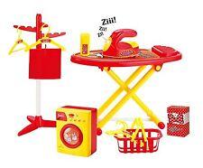 Vinsani Childrens Kids Red Pretend Play Ironing Washing Machine Cleaning Set Toy