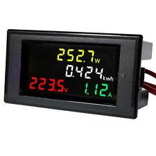 Ac 80 300v Lcd Digital Voltmeter Ammeter Volt Amp Power Kwh Panel Meter 100a Ct