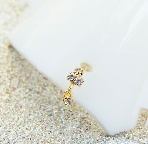 Mother's Gift Gold Plated Nose Ring Indian Nath Stone Ear Ring Fashion Jewelry