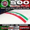 Fiat 500 595 Italian bonnet stripe LARGE 500 logo Graphics Decals Stickers