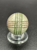 "Handmade Painted China Marble Geometric Unglazed Vintage China Marble 0.748"""