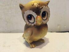 """Vintage Josef Originals Baby Big Eyed Owl original label 3 3/4"""" So Cute!"""