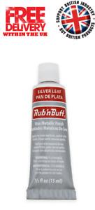 Rub n Buff Original Metallic Gilding Permanent Wax Leather Wood - Silver Leaf