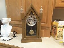 Alaron 31 day Steeple clock , Unique and beautiful, Chimes and works great.