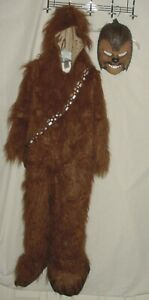 EUC Princess Paradise Star Wars Premium Chewbacca Costume Mask W/ Sound Size 8