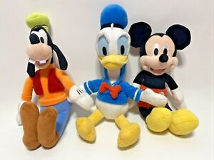 """Disney Junior Mickey Mouse Clubhouse Donald Duck Mickey Mouse & Goofy Plush 11"""""""