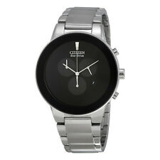 Citizen Axiom Eco-Drive  Black Dial  Mens Watch AT2240-51E