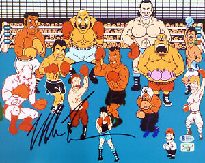 MIKE TYSON AUTOGRAPHED SIGNED 11X14 PHOTO PUNCH-OUT WITH CAST BECKETT 180905