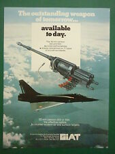 5/1987 PUB GIAT ARMEMENTS 30 MM CANNON 553 554 CANON MIRAGE 2000 ORIGINAL AD