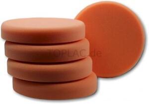 Aktion 5 x AllorA Polierpad orange glatt fein Lack Finish Schleifpad Schwamm