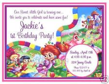 Candyland Candy Land Girl or Boy Game Theme Birthday Party Invitations CUTE