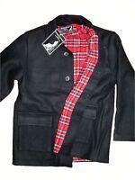 Donkey Jacket Heavy Wool Tartan Lining Worker Skin Punk Mod Ska Winter