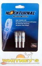Nockturnal Lighted Nocks NT-414 H  Blue-Three Pack