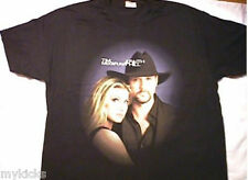 New! TIM MCGRAW FAITH HILL Soul 2 Soul SHIRT Black XL