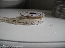 3m Schriftzug Cupcake Coffee Friends Ripsband Label Bänder Band Webband Aufnäher