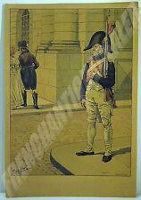 PLANCHE COULEURS UNIFORME Garde impérial JOB J Onfroy de BREVILLE