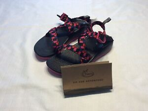 Chaco big girls sz 5 ecotread sandals shoes magenta open toed Outdoor New 003