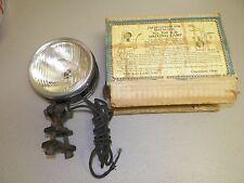VINTAGE MODEL 700 BLACK & NICKLE K-D LAMP CO PRE-WAR CAR DRIVING LAMP NOS IN BOX
