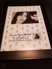 Laura Nyro Nested Rare Original Promo Poster Ad Framed!