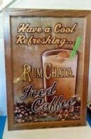 RUM CHATA ICED COFFEE BURLAP ADVERTISING WALL HANGING BAR DECOR