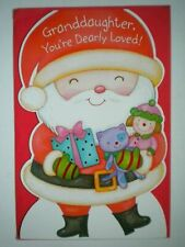 "Carlton~""GRANDDAUGHTER, YOU'RE DEARLY LOVED!"" CHRISTMAS GREETING CARD + ENVELOPE"