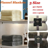 Soft Warm Plaid Fleece Bed Blanket Large Mesh Flannel Blankets Thick Breathable