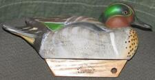 Robert Rj Mitchell Hand Crafted tucked Green Wing Teal hunting cork decoy