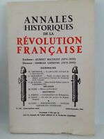 Revista Anales Históricos de La Revolution Francaise Jul-Sept 1966 N º 185