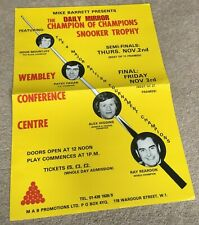 More details for 1978 poster for the daily mirror champion of champions snooker trophy