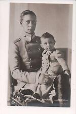 Vintage Postcard  Wilhelm, German Crown Prince & Son