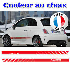 KIT STICKERS BAS DE CAISSE BANDE FIAT ABARTH 500 BRAVO