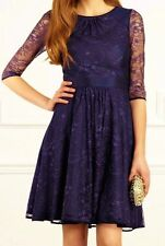 Lace Cocktail 3/4 Sleeve Skater Dresses for Women