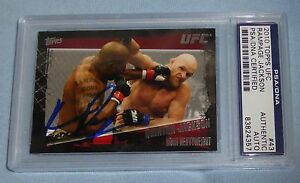 Quinton Rampage Jackson Signed UFC 2010 Topps Card #43 PSA/DNA COA Autograph 71