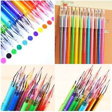 12Pcs  Candy Ballpoint Colored Gel Pen School Supplies Writing Instruments