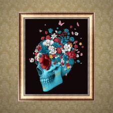 5D DIY Skull Flower Diamond Embroidery Painting Cross Stitch Craft Decor Gift