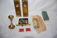 Vintage Corbin Inside Door Set Complete New Old Stock W / Box