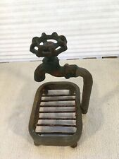 Rustic Iron Farmhouse Faucet Soap Holder For Kitchen Or Bath