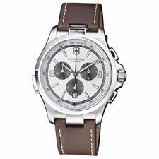 Victorinox 241729 Night Vision Chronograph Date Quartz Leather Strap Men's Watch