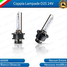 COPPIA LAMPADE FARI XENON ATTACCO D2S LUCE 6000K 24V PER CAMION IVECO TRUCK