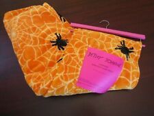 betsey johnson halloween plush blanket throw 50x70 nwt spiders and webs
