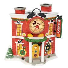 NEW Department 56 Disney Christmas Village Mickey's Alarm Clock Shop Building