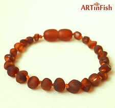 Genuine Baltic AMBER Baby BRACELET/ ANKLET 6''. 100% natural therapeutic  VA- 52