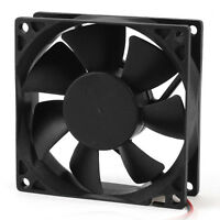80mm DC 12V 2pin PC Computer Desktop Case CPU Cooler Cooling Fan TS