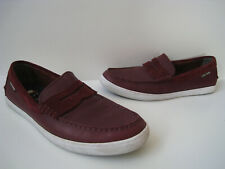 COLE HAAN 1928 BURGUNDY LEATHER LOAFER MEN SIZE US 10.5M HOT RARE